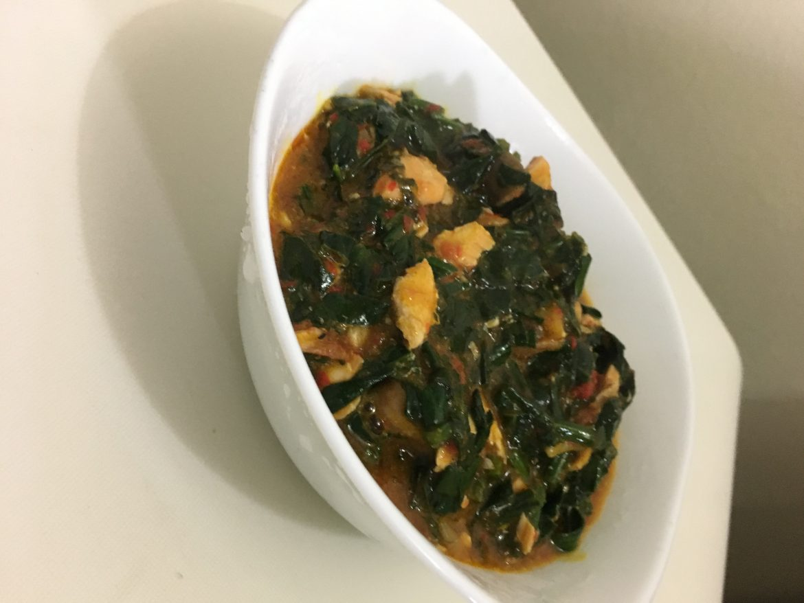 Salmon-Rich Efo